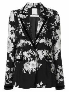 Ingie Paris floral print blazer - Black