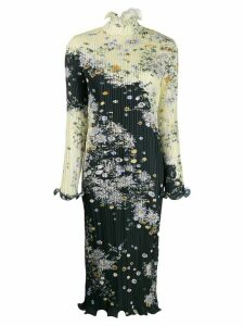 Givenchy pleated floral print dress - Yellow