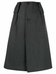 Maison Margiela buttoned A-line skirt - Grey