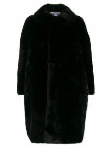 Comme Des Garçons Comme Des Garçons oversized faux-fur coat - Black