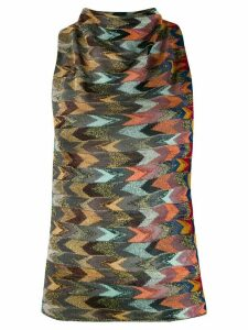 Missoni multicolour pattern knitted top - Blue