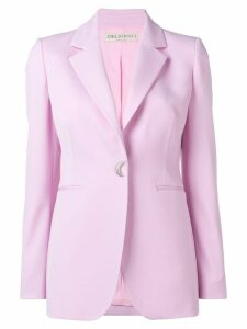 Emilio Pucci Pink Shaped Button Wool Blazer