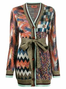 Missoni multi pattern cardigan - Blue