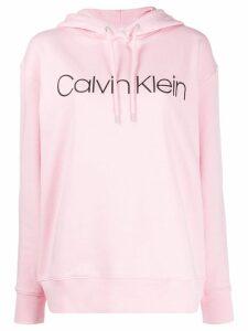 Calvin Klein printed logo hoodie - Pink