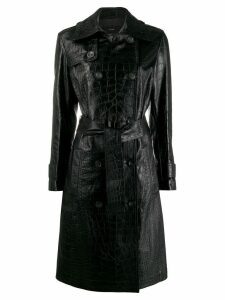 Arma Nana leather coat - Black