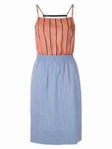 À La Garçonne panelled waisted dress - Orange