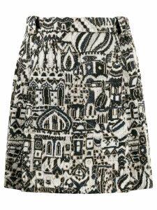 Missoni embroidered knit skirt - Neutrals