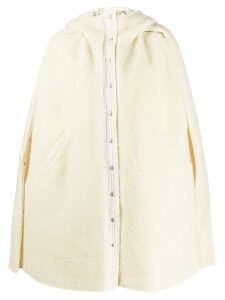 Courrèges hooded coat - White