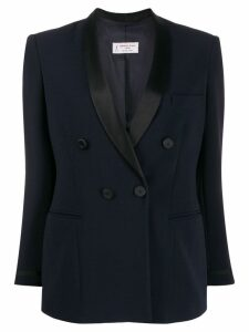 Alberto Biani fitted double-breasted blazer - Blue