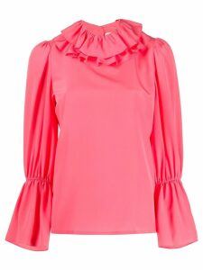 Tory Burch ruffle trim blouse - Pink