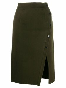 Sandro Paris front-slit midi skirt - Green