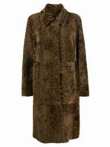 Drome front button coat - Brown