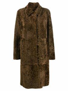 Drome front button coat - Brown
