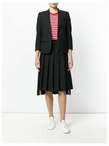 Thom Browne flap pockets fitted blazer - Black