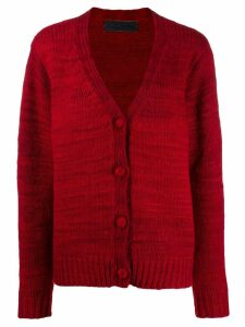 The Elder Statesman knitted cashmere cardigan - Red