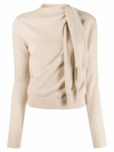 Chloé tied sleeve detail jumper - Neutrals