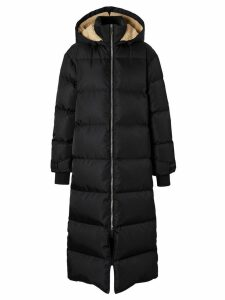 Burberry logo detail puffer coat - Black