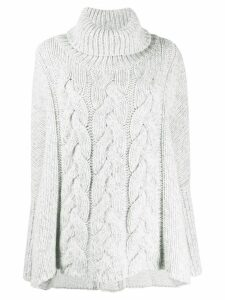 N.Peal oversized cable knit sweater - White