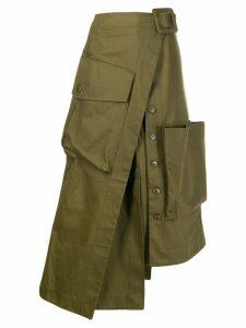 Jacquemus asymmetric wrap skirt - Khaki