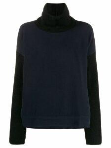 Brag-wette contrast loose-fit jumper - Blue