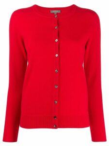 N.Peal round neck cardigan - Red