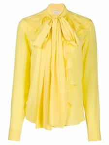 Faith Connexion ruffled long sleeve shirt - Yellow