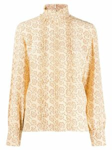 Vanessa Bruno floral long-sleeve blouse - Neutrals