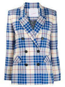 Giada Benincasa check print blazer - Blue