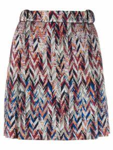 Missoni zigzag mini-skirt - Blue