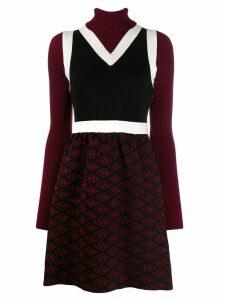 Tommy Hilfiger Tommy x Zendaya block colour pattern knitted dress -