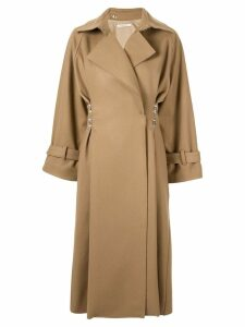 Boyarovskaya clasp-embellished oversized coat - Brown