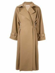 Boyarovskaya clasp-embellished oversized coat - Brown
