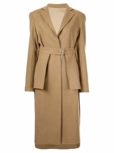 Boyarovskaya belted utility coat - Brown