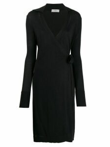 Pringle Of Scotland wrap style midi dress - Black