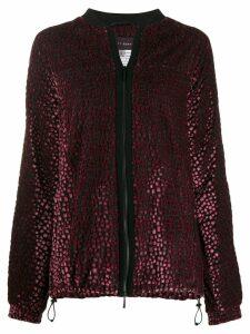 Talbot Runhof embellished bomber jacket - Pink