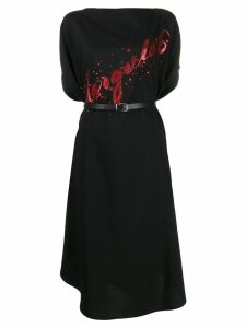 Mm6 Maison Margiela logo print dress - Black