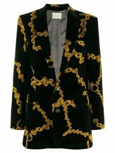 Aries chain print blazer - Black