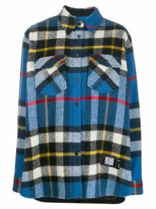 We11done oversized check shirt - Blue