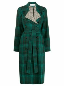 See By Chloé double-breasted check coat - Green