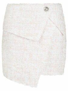 Balmain asymmetric bouclé skirt - Pink