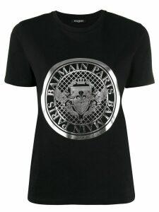 Balmain logo emblem T-shirt - Black