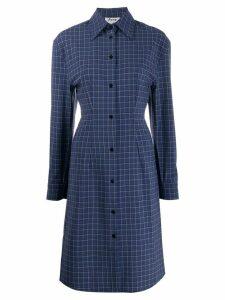 Acne Studios checked shirt dress - Blue