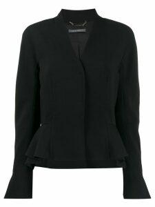 Alberta Ferretti fitted peplum jacket - Black