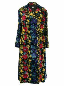 Junya Watanabe floral patterned coat - Black