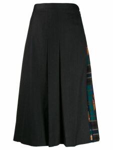 Salvatore Ferragamo pleated midi skirt - Grey