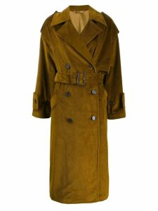 Acne Studios corded single breasted coat - Yellow