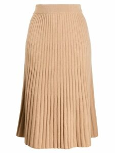 N.Peal ribbed skirt - Neutrals
