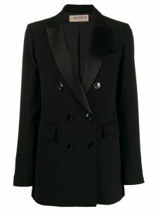Blanca contrast lapel blazer - Black
