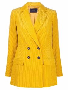 Frenken double-breasted corduroy coat - Yellow