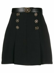 Elisabetta Franchi logo mini skirt - Black